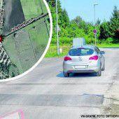 Gefahrenstelle für Biker in Lustenau jetzt entschärft