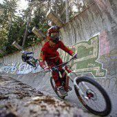 Mountainbiker im Olympischen Eiskanal