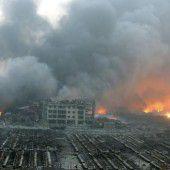 Serie von Explosionen