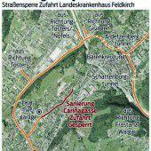 Feldkirch: Umleitung zum Spital ist bis 2016 nötig