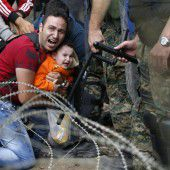 Tränengas gegen Flüchtlinge