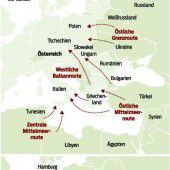 Chronologie. Flüchtlingstragödien auf dem Landweg