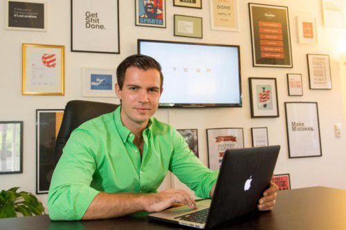 Florian Wassel gründete noch vor Studienabschluss die Digitalagentur Towa in Bregenz, die heute 21 Mitarbeiter beschäftigt.