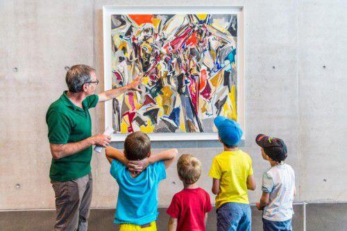 """""""Grundtechniken der Kunst"""" und """"Das Farbalphabet"""" lauten die Workshopmottos für diese Woche im Kunsthaus Bregenz."""