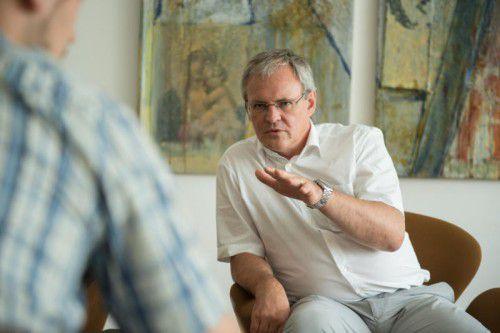 Harald Sonderegger im Gespräch mit den VN. Er sieht Interessenkonflikte positiv und als gegeben. Im Job und im Privaten.