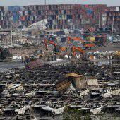 Tianjin: Giftige Stoffe werden beseitigt