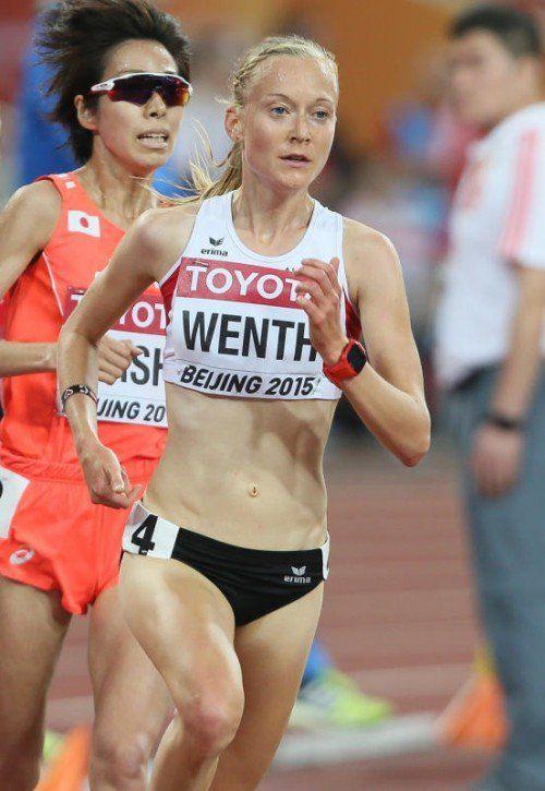 Jennifer Wenth als 15. schaffte das beste ÖLV-Ergebnis .