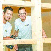 Zimmermänner bauen Karriereleiter