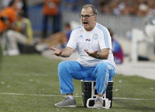Marseille-Trainer Marcelo Bielsa ist schon zurückgetreten.