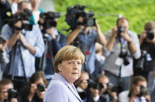 Merkel fordert gerechte Verteilung von Flüchtlingen.