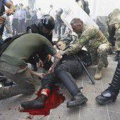 Gewaltsame Proteste in Kiew – ein Toter