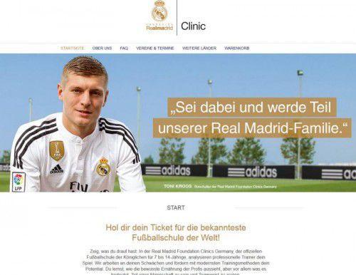 Toni Kroos als Testimonial für die Real Fußballschule.