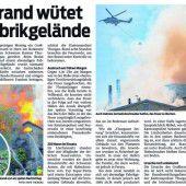 Diskussion um abgebranntes Schweizer Industriegelände