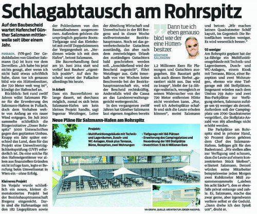 """Zum VN-Bericht """"Schlagabtausch am Rohrspitz"""", vom 8. 8. 2015."""