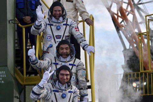 Am Freitag sollen die Raumfahrer auf der ISS ankommen.