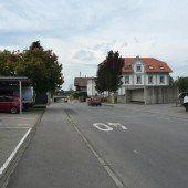 Gefahrenstelle nahe VS Dorf in Lauterach