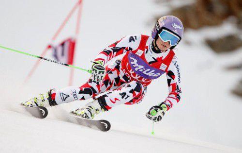 Anna Fenninger zwickte beim Skitraining das Knie.