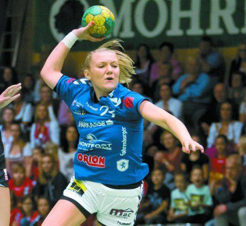 Blau-Weiß-Feldkirch-Kapitänin Elisabeth Schneider gelang mit 16 Treffern ein neuer Vereinsrekord.