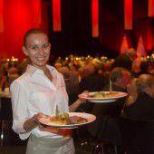 500 Gratulanten wurde festliches Menü serviert
