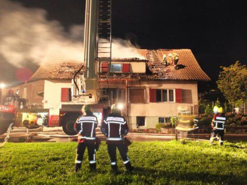 Der Brandherd befand sich im Inneren des Gebäudes.