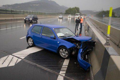 Aquaplaning war Mitte September die Ursache auf dem betreffenden Autobahnabschnitt zwischen Lauterach und Wolfurt.