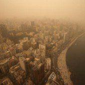 Sandsturm tobt über Syrien und dem Libanon