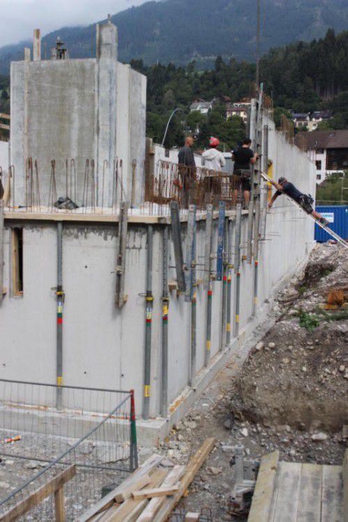 Der Vogewosi-Bau in Thüringen wächst in die Höhe.