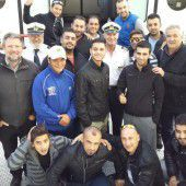 FC Dornbirn ging mit Flüchtlingen auf Schifffahrt