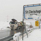 Schnee blockierte Verkehr