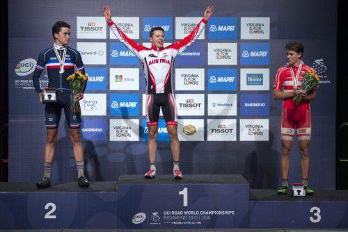 Felix Gall kürte sich zum Straßen-Weltmeister.