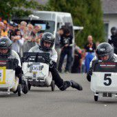 Deutscher gewann WM im Mülltonnenrennen