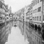 Vorarlberg einst und jetzt. Die Marktgasse in Feldkirch