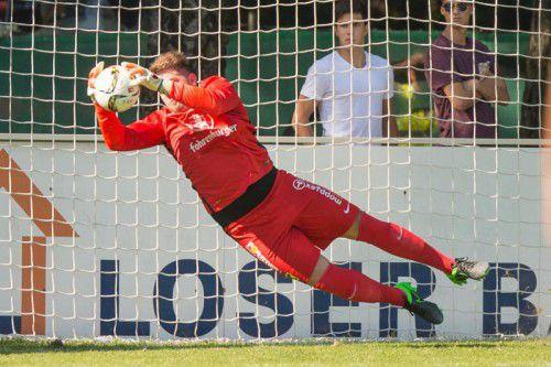 Auf Hard-Torhüter Dominik Lampert dürfte heute im Heimspiel gegen Wattens viel Arbeit warten.
