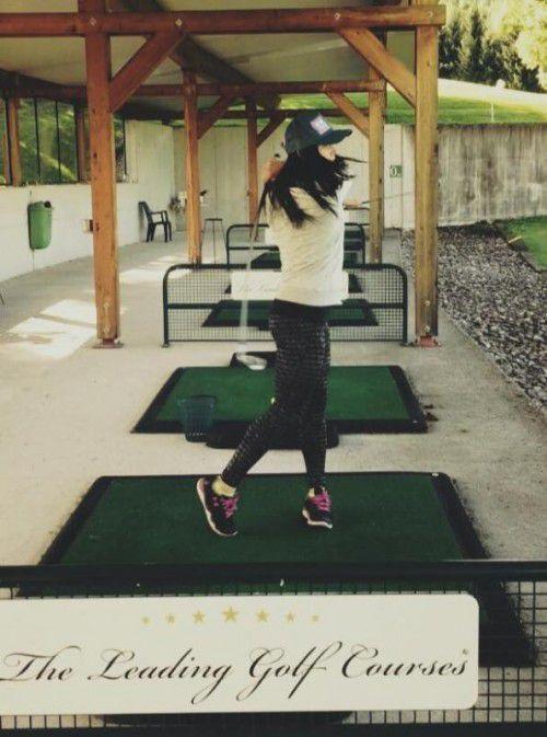 Golfen als Ausgleich: Anna Fenninger.
