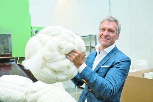 Schoeller-Spinning-Group-GF Kurt Haselwander freut sich über die Auftragslage.VN