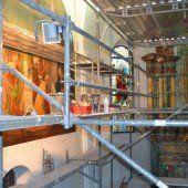 Innenraum der Pfarrkirche wird saniert
