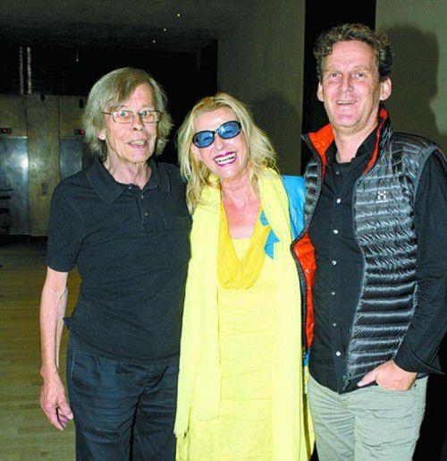 Rita Mittelberger mit den Architekten Heinz Wagner (l.) und Anton Nachbaur-Sturm.