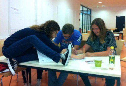 Schon voriges Jahr informierten sich Schüler der Blumenstraße und der Gallusstraße über ihre Studienmöglichkeiten.