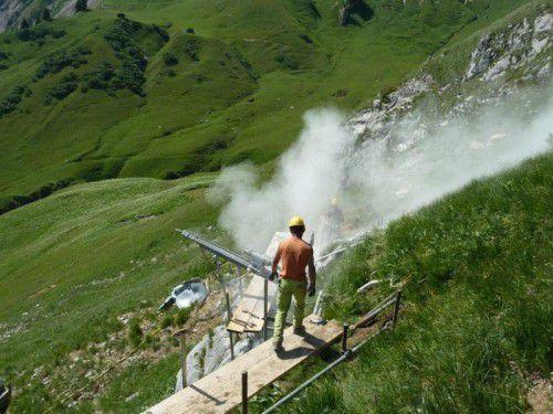 Schutz vor Lawinen: Arbeiten unterhalb der Dalaaser Glongspitze.