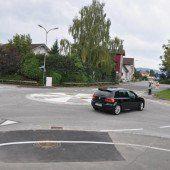 Kreisverkehr in Rankweil wieder frei befahrbar