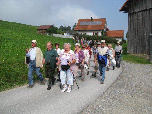 Senioren sind wieder zum Wandern eingeladen.