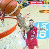 Serbien steht bei der EM im Achtelfinale