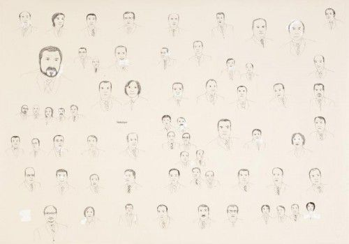 """Unter anderem werden in der Ausstellung """"Das Als-ob-Prinzip"""" die Werke """"Odalisque"""" von Ellen Gallagher (links) und """"Inventory"""" von Sophie Dvorák (16teilige Serie) gezeigt."""