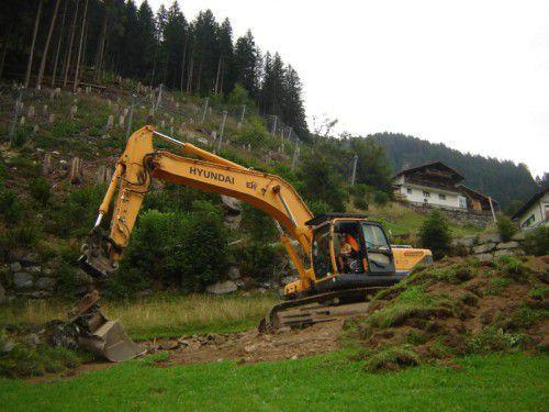 """Vergangene Woche wurden die Arbeiten für den Bauabschnitt """"Unterer Damm"""" aufgenommen."""