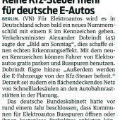 Anreize für E-Autos