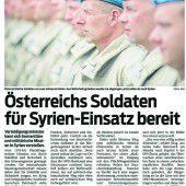 Syrien-Einsatz des Bundesheers