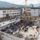 Grundstein für Sporthallen der VMS Rankweil gelegt