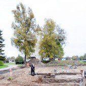 Archäologen bremsen das Wasserwerkprojekt in Hard