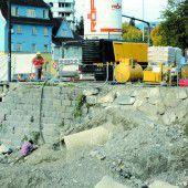 Ufermauern werden saniert