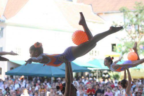 Unvergessene Bilder: Die Weltgymnaestrada 2007 wurde zu einem völkerverbindenden Fest. Das soll sie auch 2019 sein.VN